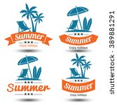 summer holidays design elements ... | Shutterstock .eps vector #389881291