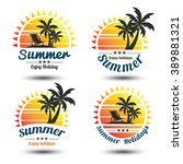 summer holidays design elements ... | Shutterstock .eps vector #389881321