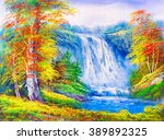 Oil Painting   Waterfall...
