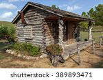 Log Cabin Built To Resemble An...