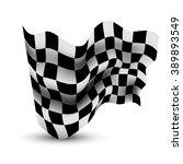 waving checkered flag | Shutterstock . vector #389893549