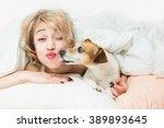 happy funny morning mood.... | Shutterstock . vector #389893645