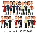 teamwork. concept of group of... | Shutterstock .eps vector #389897431