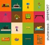 vector illustration modern home ... | Shutterstock .eps vector #389899297