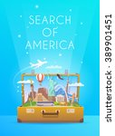 trip to south america. travel... | Shutterstock .eps vector #389901451