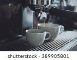 espresso shot from coffee... | Shutterstock . vector #389905801