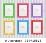 realistic design photo frames... | Shutterstock .eps vector #389915815