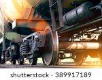 Railroad Train Of Black Tanker...