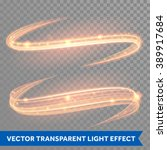 vector magic glowing light line ... | Shutterstock .eps vector #389917684