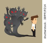 businessman the evil within... | Shutterstock .eps vector #389919214