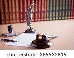 court judge's gavel  themis  ... | Shutterstock . vector #389932819