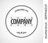vector logotype. retro vintage... | Shutterstock .eps vector #389946019
