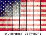 United States Grunge Wooden...