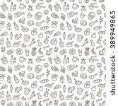 food seamless background | Shutterstock vector #389949865