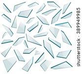Shards of glass. Vector illustration.
