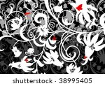 abstract floral ornament with... | Shutterstock .eps vector #38995405