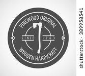 vector logotype. retro vintage... | Shutterstock .eps vector #389958541