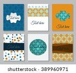 set of flyer. brochure design... | Shutterstock .eps vector #389960971