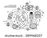 flat style  thin line art... | Shutterstock .eps vector #389968207