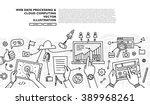 flat style  thin line art... | Shutterstock .eps vector #389968261