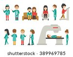medical staff flat  isolated on ... | Shutterstock .eps vector #389969785