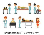 medical staff flat  isolated on ... | Shutterstock .eps vector #389969794