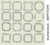 frame set | Shutterstock .eps vector #389975395