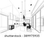 abstract sketch design of... | Shutterstock . vector #389975935