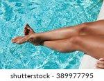 Beautiful Woman Lgs In Swimmin...
