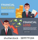 financial success  financial... | Shutterstock .eps vector #389979184