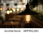incandescent lamps in a modern... | Shutterstock . vector #389981281