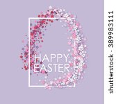 Happy Easter Background With...