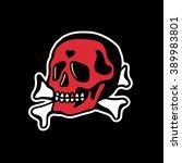 skull and crossbones. | Shutterstock .eps vector #389983801