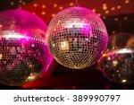 disco ball in a nightclub | Shutterstock . vector #389990797