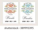 baby shower invitation | Shutterstock .eps vector #389993395