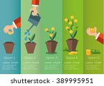 hand of business person growing ... | Shutterstock .eps vector #389995951