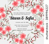 wedding card or invitation with ...   Shutterstock .eps vector #389996227