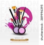 vector background with... | Shutterstock .eps vector #389996395