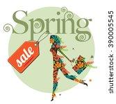 Spring Sale Design With Floral...