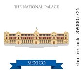 the national palace in mexico.... | Shutterstock .eps vector #390005725