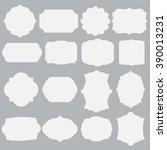 set of silhouette framework | Shutterstock .eps vector #390013231