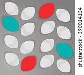 stylish vector metallic... | Shutterstock .eps vector #390014134