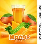 Vector Background With Mango  ...