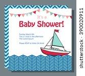 nautical baby shower card...   Shutterstock .eps vector #390020911