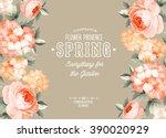 elegant floral card. | Shutterstock .eps vector #390020929