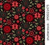vector flower pattern. seamless ... | Shutterstock .eps vector #390021475