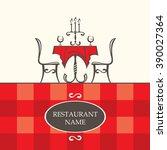 restaurant menu design with...   Shutterstock .eps vector #390027364