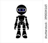 humanoid robot vector... | Shutterstock .eps vector #390034165