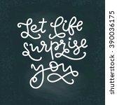 vector lettering illustration.... | Shutterstock .eps vector #390036175