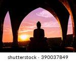 Silhouette Of Buddha At Wat Ph...